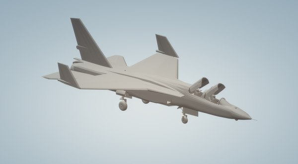 ra5c vigilanti aircraft ship 3D model