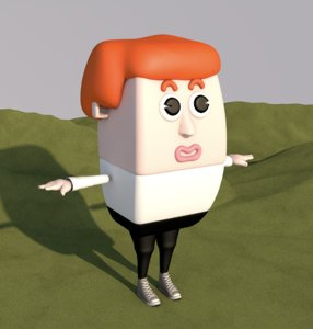 cartoon man male animation character model