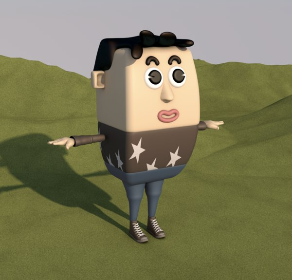 cartoon man male animation character 3D model