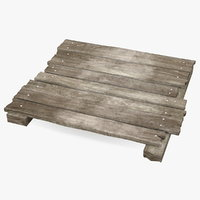 wooden planks wood board 3D model