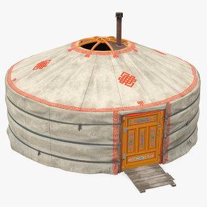 3D yurt mongolian nomads