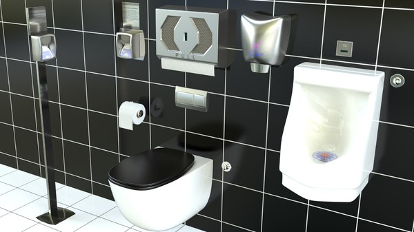 3D bathroom toilet