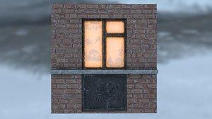 3D panel window