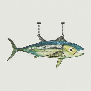 3D model fish restaurant sign