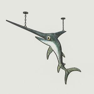 fish restaurant sign 3D model