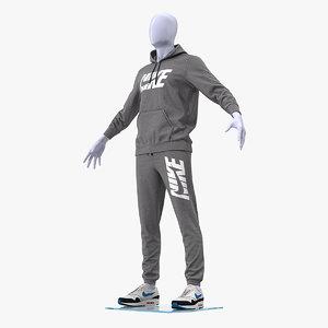 3D nike sportswear suit anthrazit