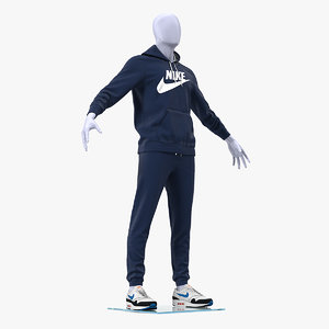 nike sportswear blue suit 3D model