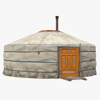 traditional mongolian yurt mongolia 3D model