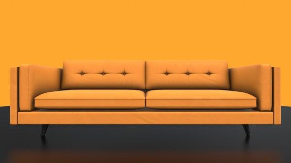 3D sofa orange model