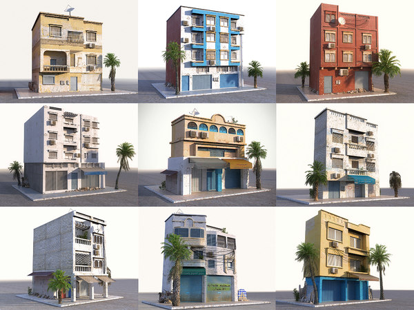 3D arab house pack 9 model