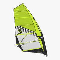 3D windsurf mast sail boom