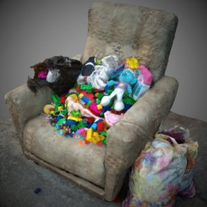 trash toys armchair model