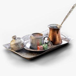 turkish coffee 3D