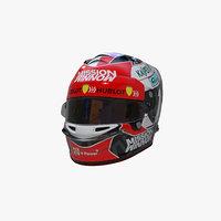 Leclerc helmet 2019