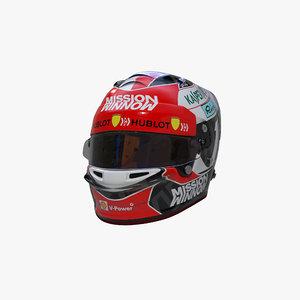 leclerc 2019 helmet 3D model