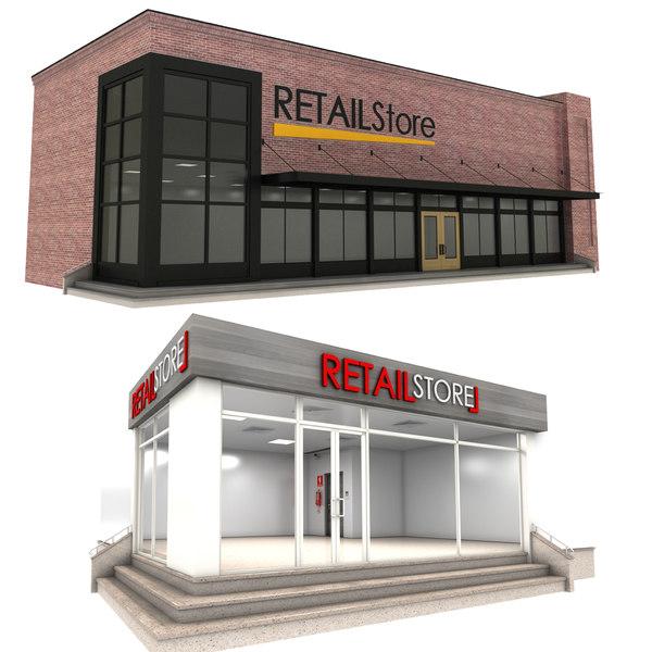 retail store 1-2 3D model