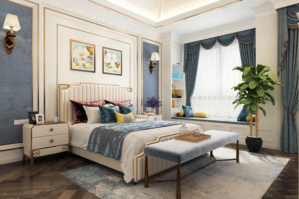 3D bedroom bed room model