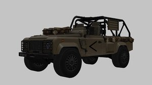 land rover wolf 3D model