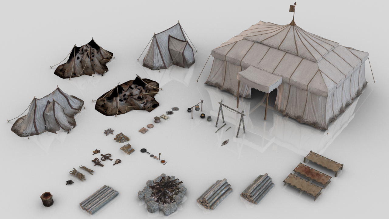 44 assets 3D model