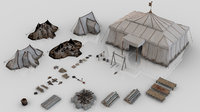 Set of 44 Medieval Camping Assets