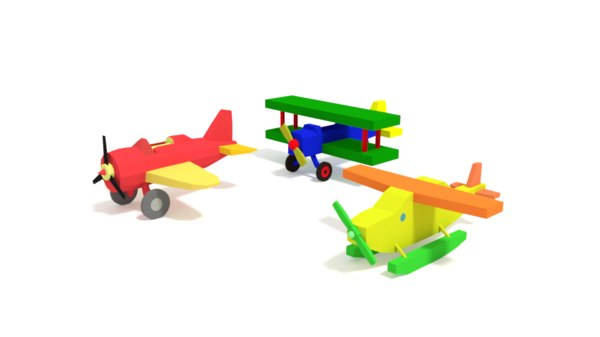 pack airplane toys model