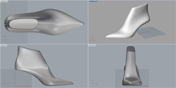 3D model pack woman shoe lasts