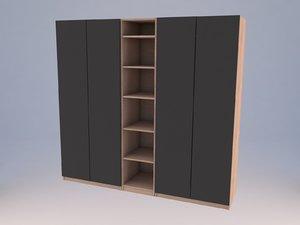 interior pax wardrobe 3D model