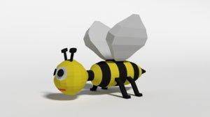 3D bee toy model