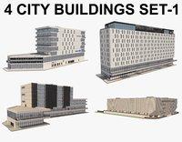 City Buildings Set_1