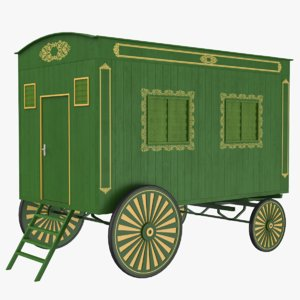 3D carriage caravan