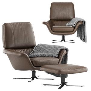 3D armchair minotti blake-soft model