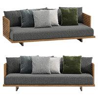 3D outdoor sofa quadrado minotti