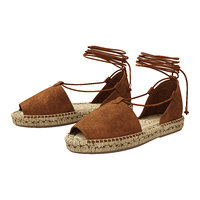 3D lace espadrilles alma brown model