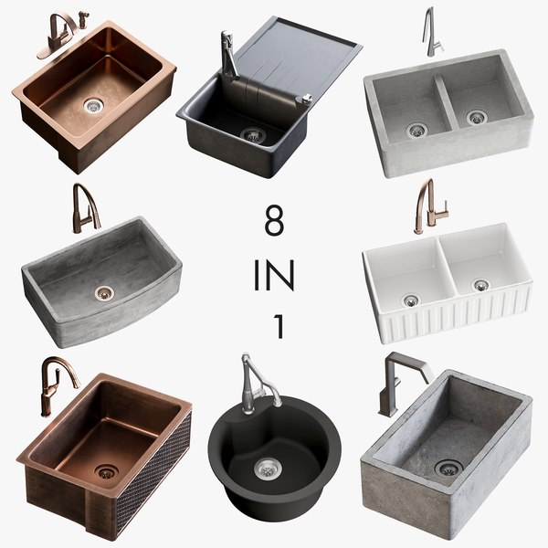 realistic sinks 2 3D
