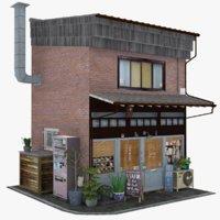3D old cafe model