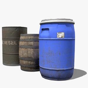 3D barrel pack contain model