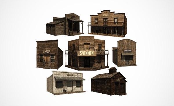 3D western building pack west