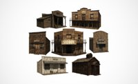 Western town building pack
