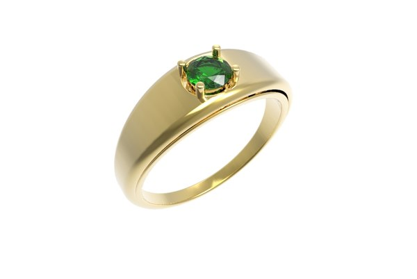 gold ring diamond 4 3D model