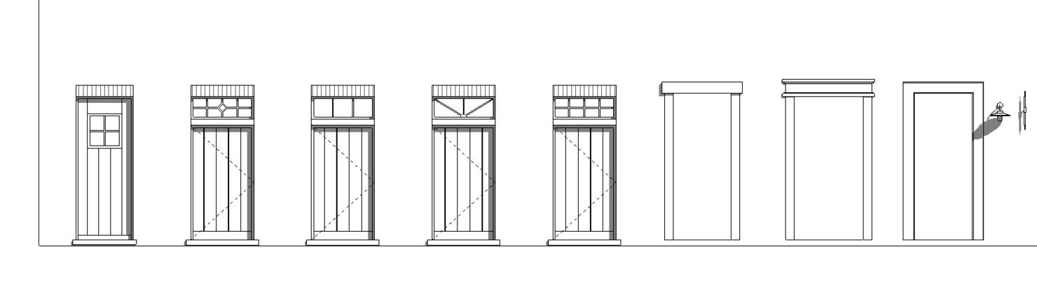 parametric classical windows doors 3D model
