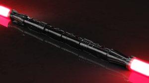 darth maul lightsaber single 3D model