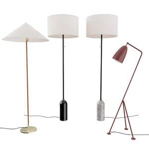 tynell floor lamp gubi 3D model