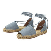 3D lace espadrilles alma blue model
