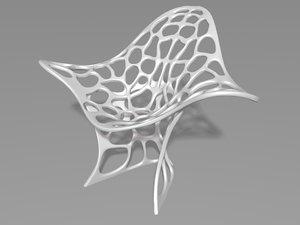 architecture furniture organic chair seat model