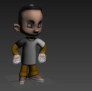 3dsmax small boy kid