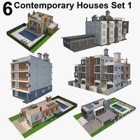 6 Contemporary Houses Set 1