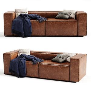 3D modloft dominick sofa model