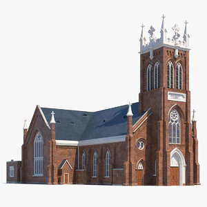 vincent ferrer catholic church 3D model
