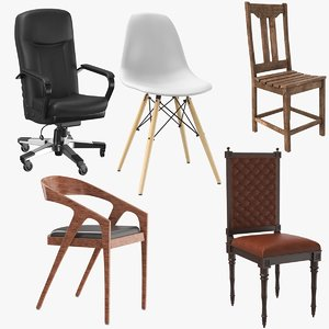 3D model real chairs