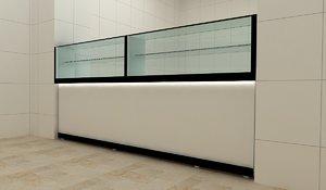 countertop bench 3D model